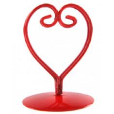 2 Marque places coeur métal - rouge