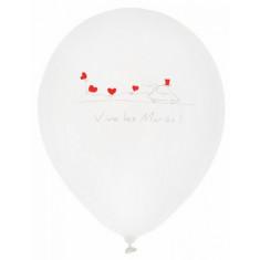 Ballons « Vive les mariés » blanc x8
