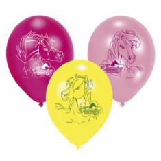 6 Ballons Charming Horses 9cm x 23cm - Latex
