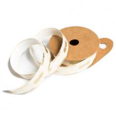 Ruban adhésif lin ivoire ananas floque or