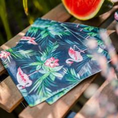 x16 Serviettes papier Flamant Rose