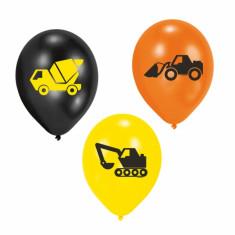 10 ballons en latex camions de chantier