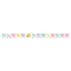 Guirlande Anniversaire Licorne Happy Birthday