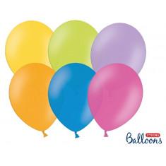 100 ballons multicolores pastel - 29 cm