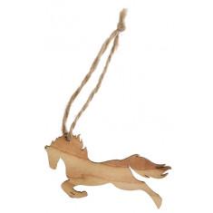 Marque place cheval en bois x6