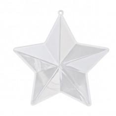 3 Contenants à dragées en forme d'étoile - 10 cm x 10 cm