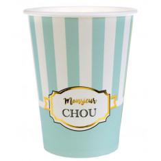 "10 Gobelets Baby Shower ""Monsieur Chou"""