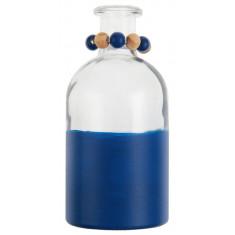 Vase bicolore bleu - 8 cm x 16 cm