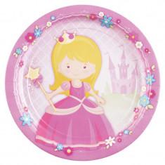 x8 Assiettes en carton Princesse