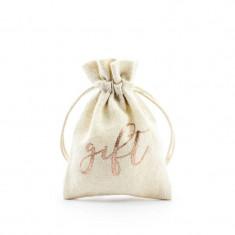 x10 Sachet en tissu pour cadeaux invité