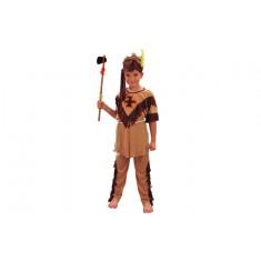 Déguisement garçon indien - marron - 7/9 ans
