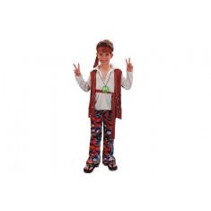 Déguisement garçon hippie marron - 10/12 ans