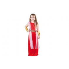 Déguisement fille romaine rouge - Taille 7/9 ans