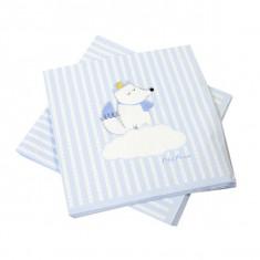 x20 Serviettes Papier Babyshower bleu