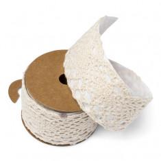 Ruban adhésif dentelle ivoire 4,5 cm x 2 m