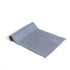 Chemin de table rayé marine et blanc - 28 cm x 5 m