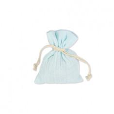 4 sachets à dragées bleus 8 cm x 10 cm