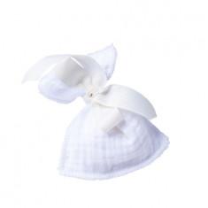 4 sachets dragées gaze de coton blanc