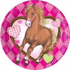 10 assiettes anniversaire Cheval