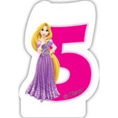 Bougie d'anniversaire 5 – Princesses Disney