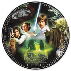 8 assiettes Star Wars & Heroes