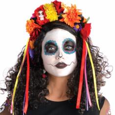Couronne de fleurs jour des morts - Halloween