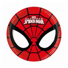 8 Assiettes Spiderman - 20 cm