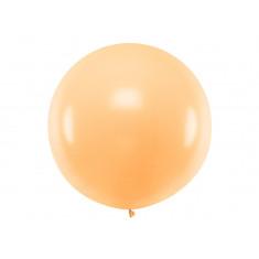 Ballon géant de Baudruche 1 mètre Pêche Pastel