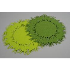 Set de table feutrine vert
