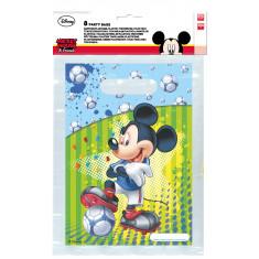 6 sacs de fête Mickey footballer