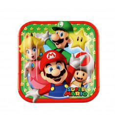 8 Assiettes Super Mario 18 x 18