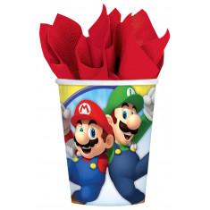 8 Gobelets Super Mario 266 mL