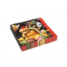 20 Serviettes Super Mario 33 x 33