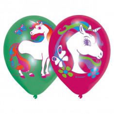 6 Ballons licorne 27 cm