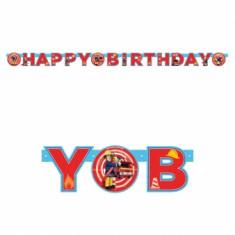 Bannière Happy Birthday Sam le Pompier