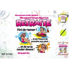 T-shirt Retraite Femme + Stylo