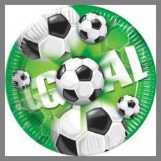 Assiettes Football Green - 20 cm Ø - x10