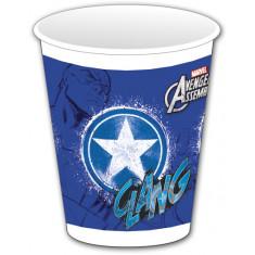 8 gobelets Avengers Capitain America