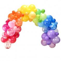 Guirlande de ballons arc en ciel de 85 ballons
