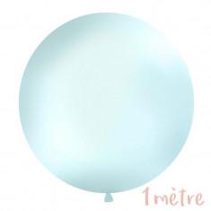 Ballon géant 1 mètre - bleu pastel