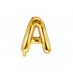Ballon lettre A or - 35 cm