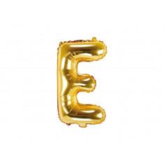 Ballon lettre E or - 35 cm
