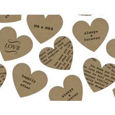 Confettis coeurs kraft thème amour