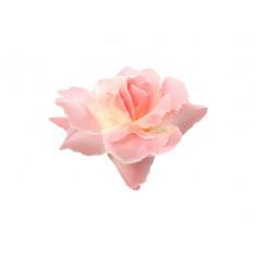 24 roses en satin autoadhésives - Rose