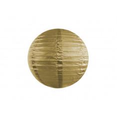 Lanterne en papier or 20 cm