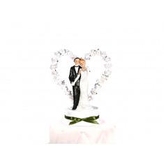 Sujets mariés coeur - vert