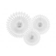 3 Rosaces blanches - 20/25/30 cm
