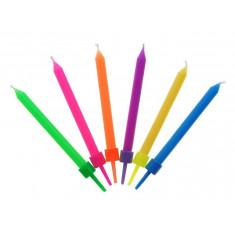 6 bougies multicolores
