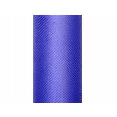 Rouleau de tulle de 50 cm x 9 m - bleu