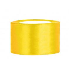 Ruban satin 38 mm - jaune